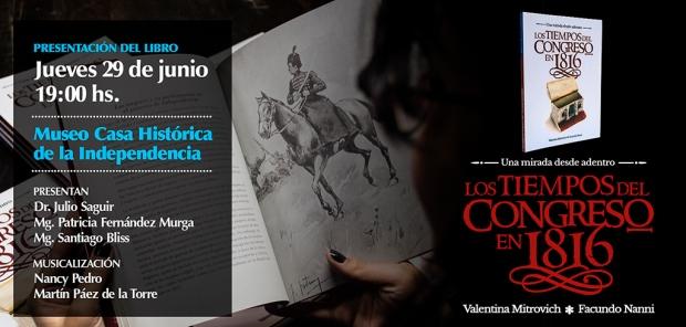 Placa promocional presentación libro